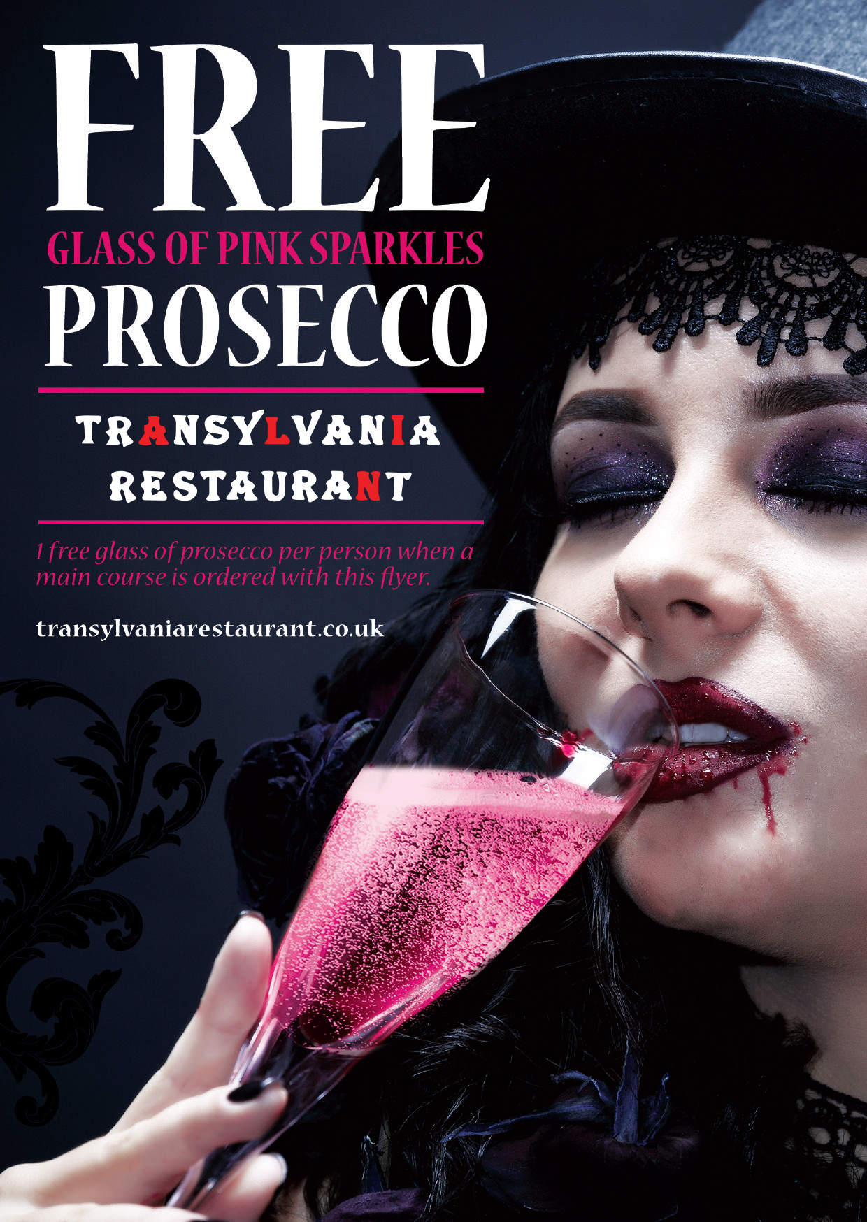 Free Glass of Pink Prosecco With All Mains