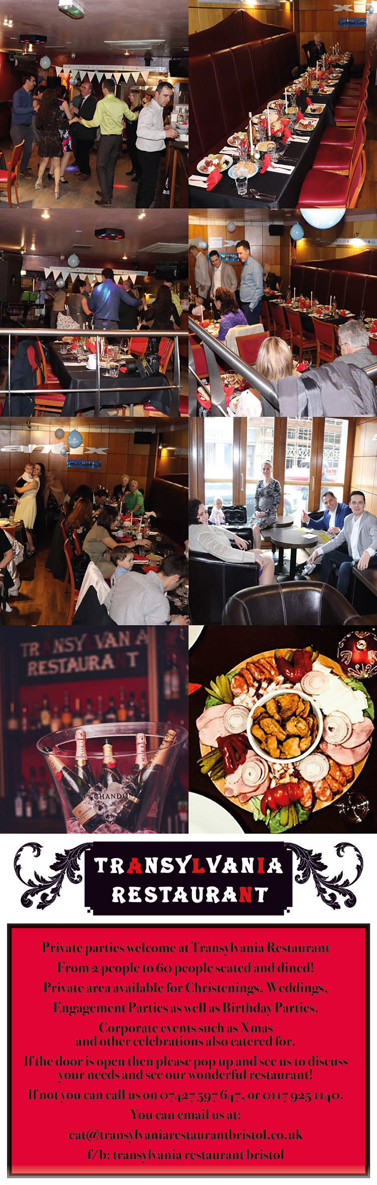 Transylvania Restaurant Bristol – Available for events and private hire!